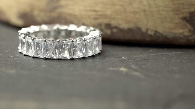 Eternity Band Eternity diamond ring band. eternity stock videos & royalty-free footage