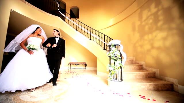 Ethnic Bride and Groom Luxury Entrance Hall video