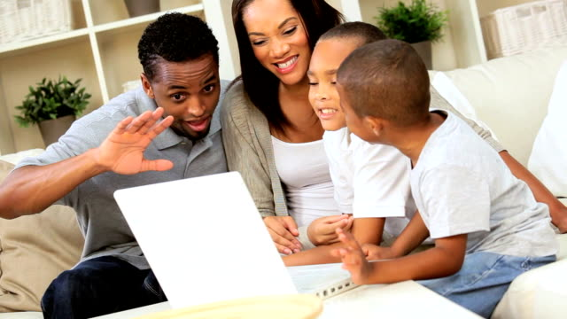 Ethnic Family Talking Via Online Web Chat video