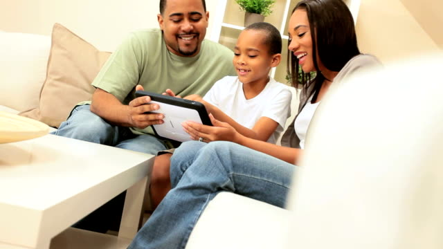 Ethnic Family Using Wireless Tablet video