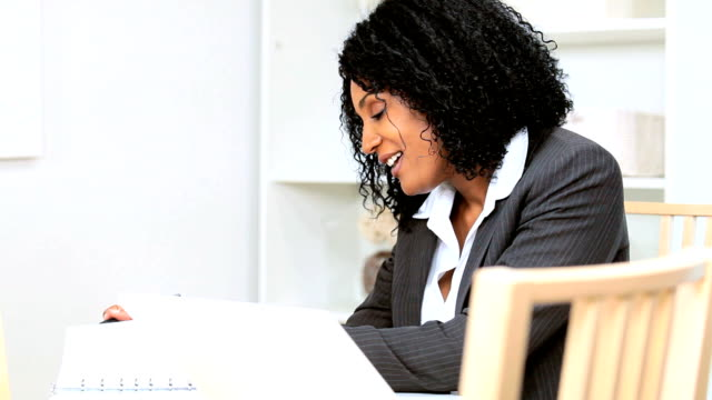Ethnic Female Businesswoman Using Smart Phone video