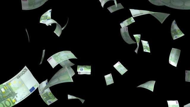 euro 100#4 - valuta dell'unione europea video stock e b–roll