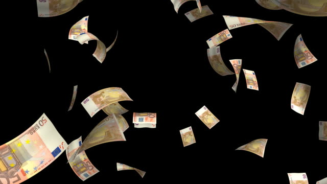 50 euro#4 - valuta dell'unione europea video stock e b–roll