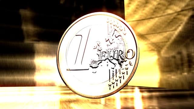 Euro Coin Animation video