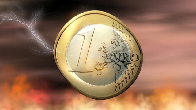 Euro Coin Animation Euro Coin Animation allegory painting stock videos & royalty-free footage