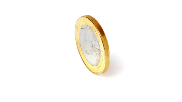 hd-euro-münze spinning (endlosschleife - euros cash stock-videos und b-roll-filmmaterial