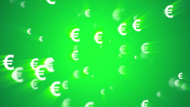 Euro Currency Animated Looping Background green video