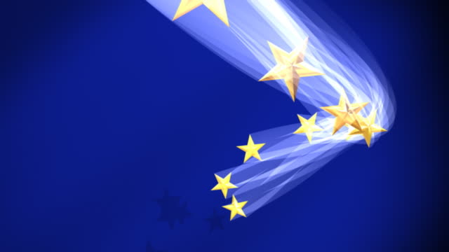 Euro Flag Stars Fly In video