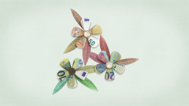 Euro Money Flowers - Growing Finances Animated