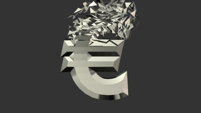 Euro Sign Animation Euro Sign Animation allegory painting stock videos & royalty-free footage