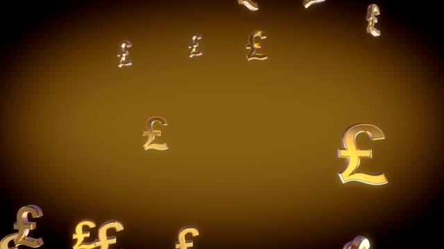 Euro firme caída, 3D animación - vídeo