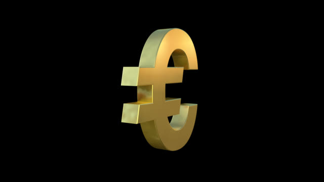 euro symbol - simbolo dell'euro video stock e b–roll
