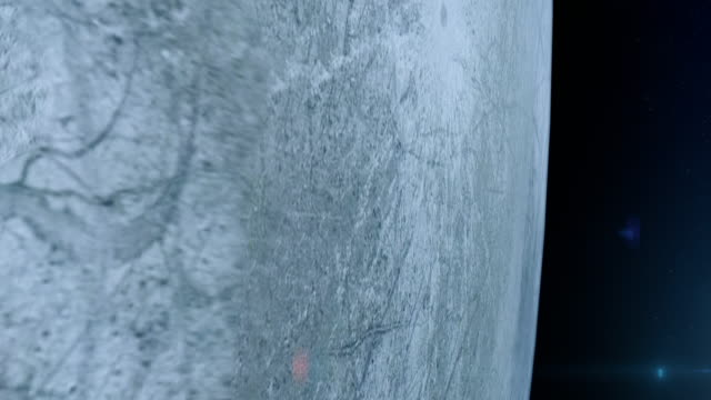 Europa Moon surface seen from space video