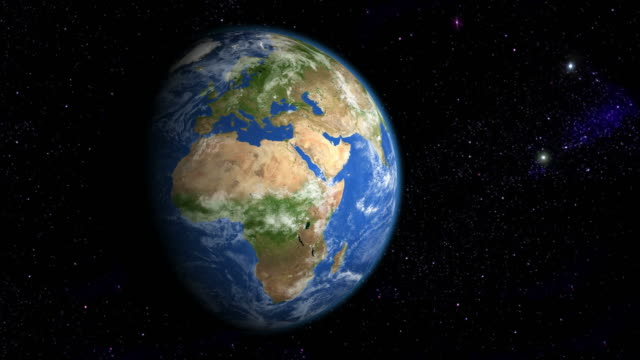 Europe & Africa from space video