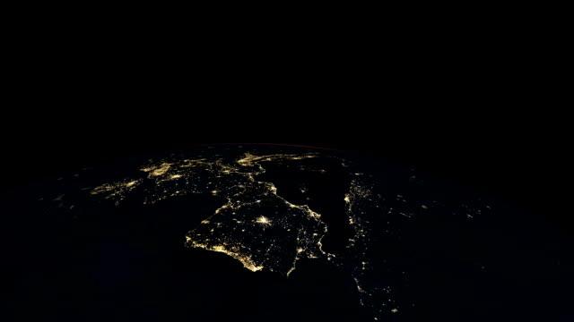 Europe at night. video