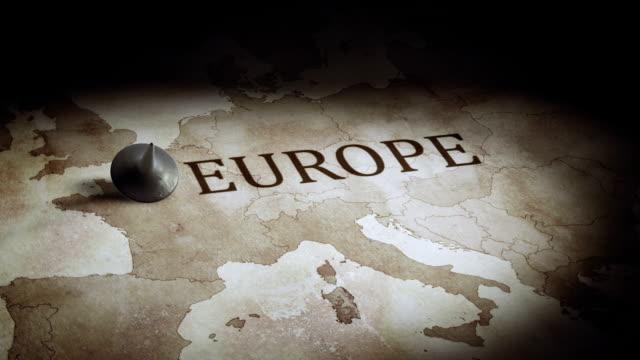 vidéos et rushes de carte de l'europe l'économie - carte europe