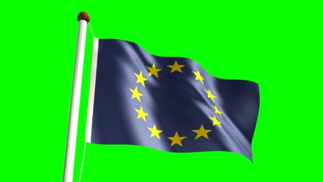 Europe flag (Loop & green screen) video
