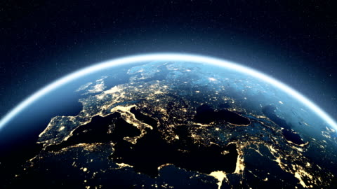 4K Europe Map Planet Earth, Planet - Space, Space, Europe europe stock videos & royalty-free footage