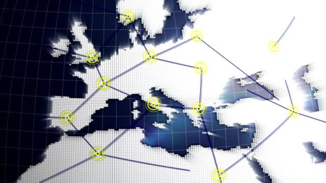 vidéos et rushes de concept de réseau europe - vaisselle picto