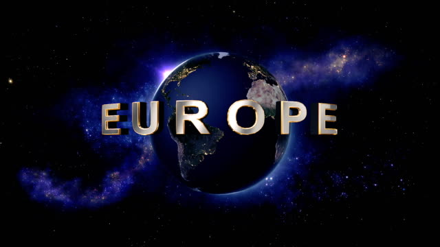 Europe title - the Earth from space showing all they beauty video