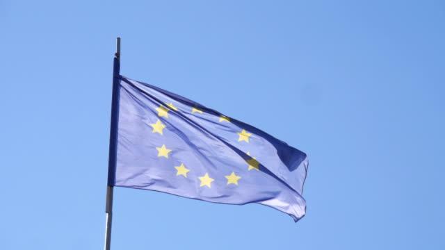 Europe Union flag video