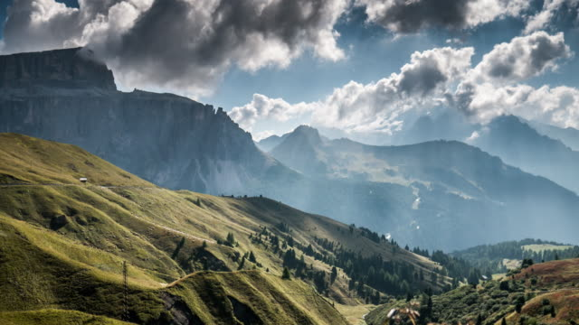 European alps mountain range , Time Lapse , switzerland