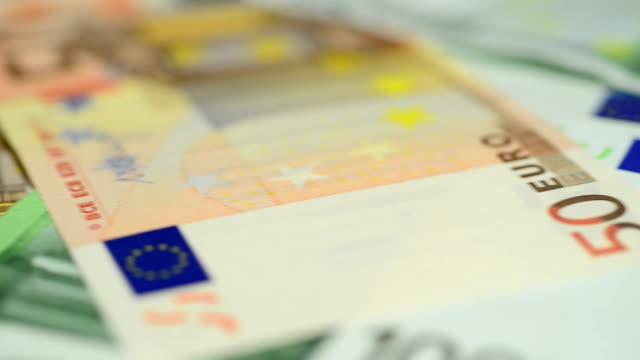 european banknotes - dept bildbanksvideor och videomaterial från bakom kulisserna