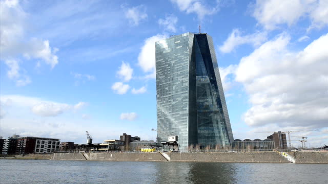 EZB European Central Bank Frankfurt Headquarter HD video