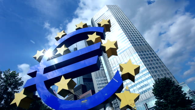 European Central Bank, Frankfurt - time lapse