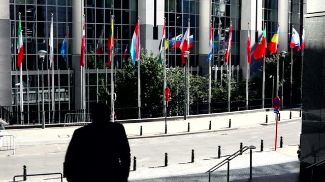 European Parliament Building, Brussels video