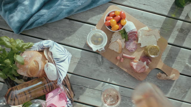 European Style Picnic out in the Sun video