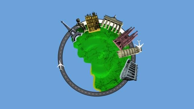 European Travel Animation