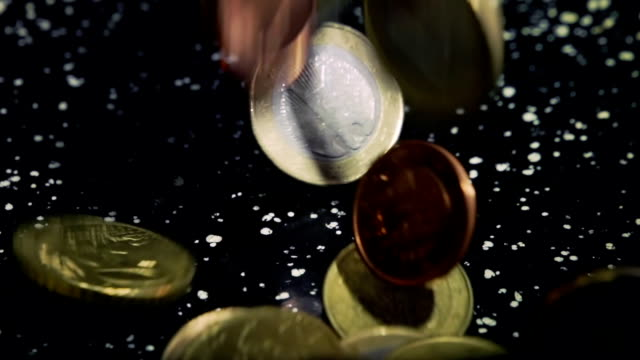 European Union Coins, Slow Mo video