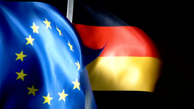 European Union Flag and German Flag