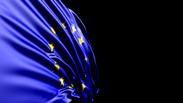 European Union Flag HD, PAL, NTSC, alpha included, looping video