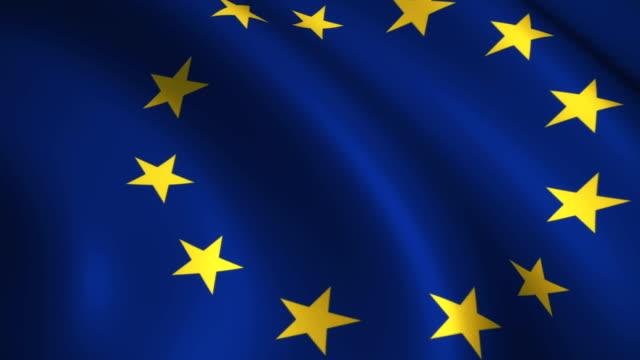 European union Flag Near video