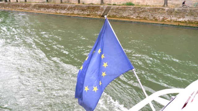European Union flag on the wind in 4k Professional video of European Union flag on the wind in 4K slow motion 60fps caen stock videos & royalty-free footage
