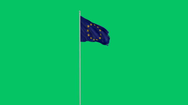 european union flag Rising