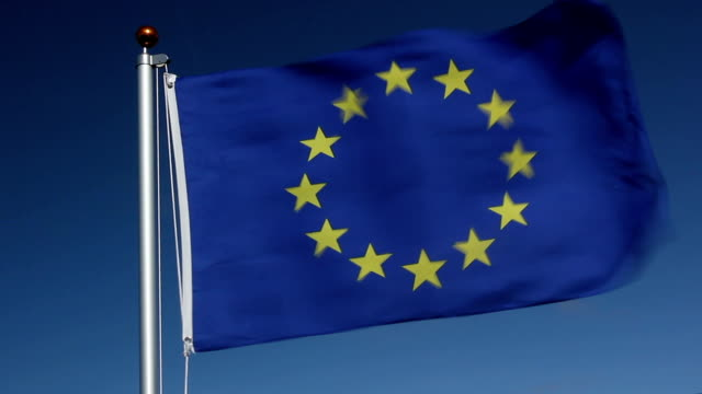 EU European Union flag video