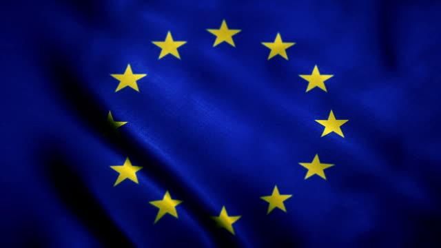 vídeos de stock, filmes e b-roll de bandeira da comunidade européia - flag