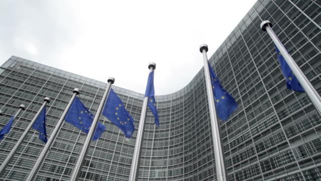 European union flags, Brussels