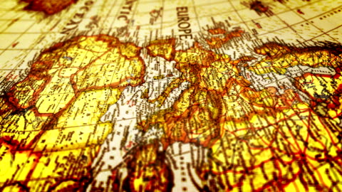 Europe-World Map Europe-World Map ancient stock videos & royalty-free footage