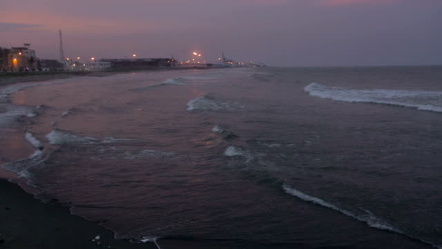 Evening beach in Chennai video