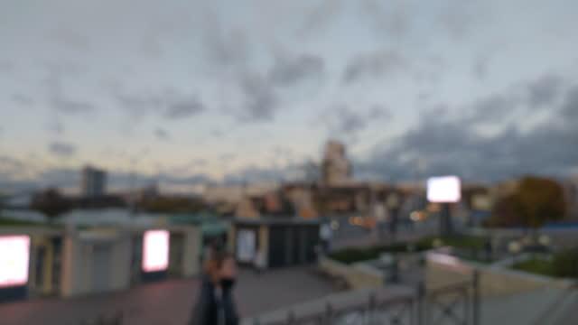 Evening city landscape video