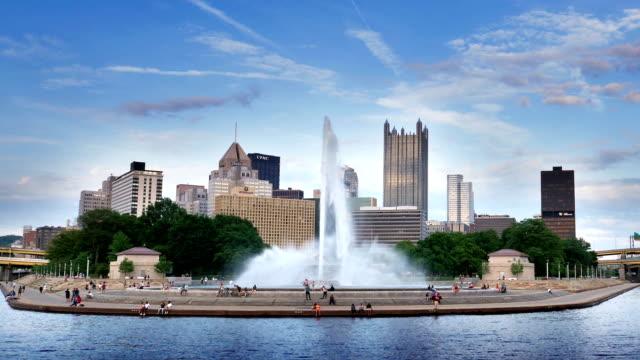 Evening establishing shot Pittsburgh video