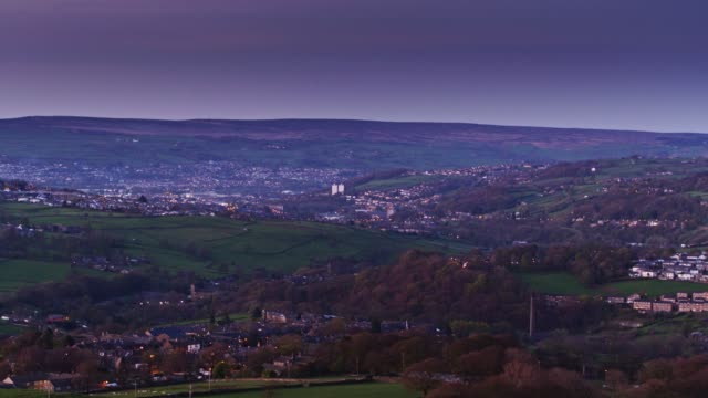 Evening in West Yorkshire - Aerial View video