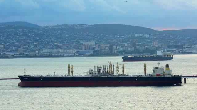 evening port evening port refueling stock videos & royalty-free footage
