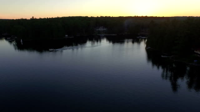 Evening Recreational Boating video