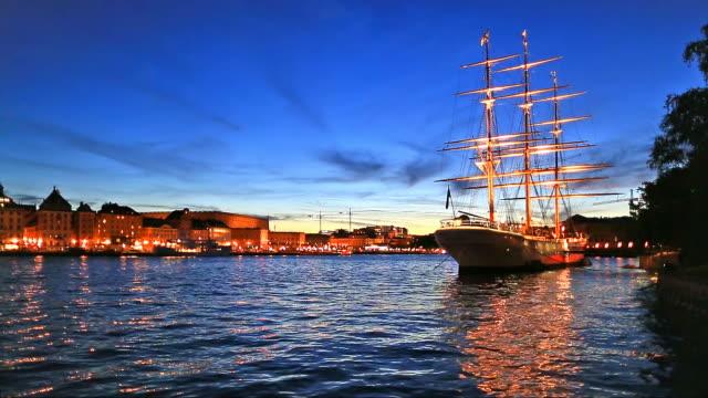 Evening scenery of Stockholm, Sweden video