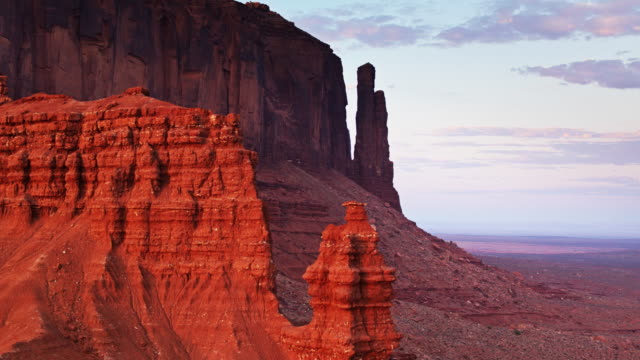 Evening Shadows in Monument Valley - Aerial Shot video